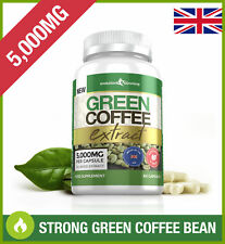 GREEN COFFEE BEAN 5,000mg *60 CAPSULES* 50% CGA Fat Burning & Weight Loss UK NEW
