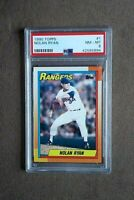 1990 Topps Baseball Nolan Ryan Card #1 PSA Graded 8 NM~MT