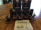 Hallmark Keepsake Ornaments Santa and His Reindeer 1992 Complete Set