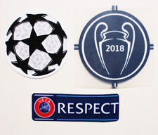 REAL MADRID 2018 UCL WINNERS PATCH + RESPECT PATCH + STARBALL PATCH