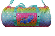 FAB BNWT JOJO SIWA RAINBOW HEART DUFFLE BAG WITH JOJO BOW ZIPPER RRP £25
