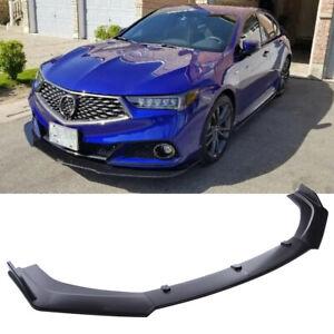 For Acura TLX 2018-2021 Front Bumper Lip Splitter Body Kit Spoiler Matte Black