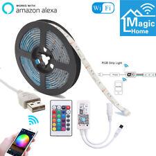 Wowled 2m USB 5050 RGB 60 LEDs Flexible Smart Strip Light Waterproof Tape 5v...