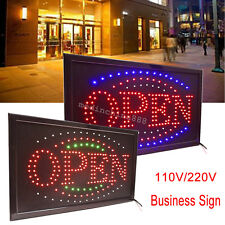 Visible Led Light Flash Motion Business Open Sign Chain Switch 25*48 110/220 V