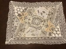 New listing vintage Normandy Lace Fabulous Embroidered butterflies