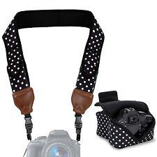 Camera Neck Strap with Accessory Storage Pockets