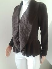 Cable& Gauge Cardigan sweater women NEW Size M, Knitted, Color Brown. S10