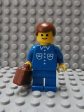 LEGO Classic Town Citizen Minifig Blue Suit with Tie and Briefcase Brown Hair