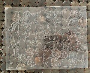 Special Tandy Craftaid Leather Craft Template Political Donkey Elephant GOP DEM