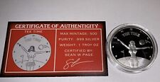 Golf Tee Time Spicy Silver 1 Ounce Silver Only 500 Made