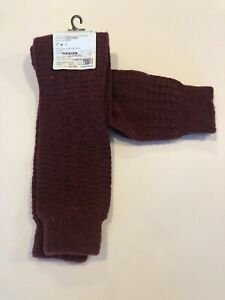 Hansel From Basel Burgundy Leg Warmers new with tags by Athleta