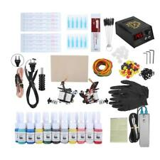 Complete Tattoo Kit Needles 2 Machine Guns Power Supply FootPedal Color Inks Tip