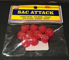 New Pink Sac Attack ATLAS MIKES Imitation Salmon Egg Clusters 10/pk Salmon bait