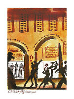 Francois Gervais Cafe de Los Angelitos I Poster Kunstdruck Bild 40x30cm
