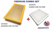 COMBO Air Filter & Cabin Air Filter SET for 2007 - 2014 Ford Edge AF5699 C25876