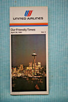 United Airlines Timetable - April 26, 1981