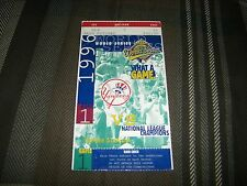 DEREK JETER MLB WORLD SERIES DEBUT GAME 1 1996 WORLD SERIES TICKET STUB
