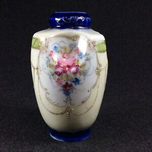 Antique Kinjo Japanese Hand Painted Vase Marked Nippon