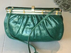 VINTAGE JUDITH LEIBER GREEN BAG / PURSE LOVELY CONDITION