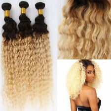 Blonde Ombre Deep Wave Virgin Hair 100%  Brazilian Human Hair Weave 1 Bundle