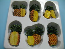 PineApple magnets.Kitchen decor home  Fruits Bar fridge set of 6 Tropical #446