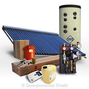 5 m² Solarpaket mit 300 Liter Solarspeicher (Qualitätsstahl) und Röhrenkollektor