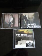 3 X Tom Jones Cds praise & blame , spirit in the room , long lost suitcase