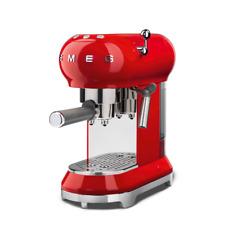 SMEG Macchina Caffè Espresso 50's Style ECF01 Cialde/Macinato 15 Bar 1350W Rosso