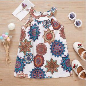 size 18-24m to 5 years new girls dress bohemian print cleo neck girls dress