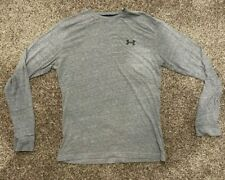 Under Armour Men's size S Charged Cotton Long Sleeve Tee Heathered Grey Shirt