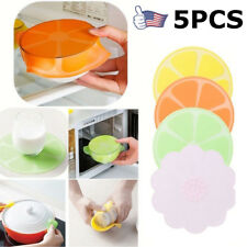 1/5 Pack Stretch Reusable Silicone Bowl Food Storage Wraps Cover Seal Fresh Lids