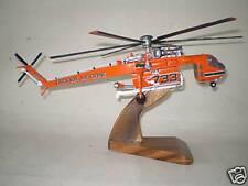 S-64 Erickson Skycrane Helicopter Wood Model Regular