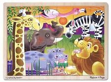 Melissa & Doug African Animals Kids Wooden Jigsaw Puzzle 24pc 2937