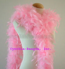 Baby Pink w/ Silver Tinsel  65 Grams Chandelle Feather Boa   Halloween Costume