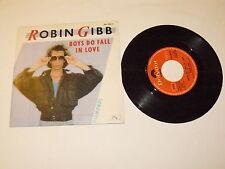 """ROBIN GIBB """"BOYS DO FALL IN LOVE"""" disco 45 giri POLYDOR Italy 1984 BEE GEES"""