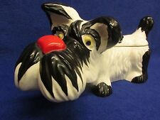 12'' VERY RARE Czech Art Deco Ditmar Urbach TERRIER DOG covered bowl dish CLEAN