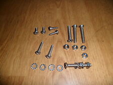 VESPA P PX T5 STAINLESS STEEL 18% CHROME INDICATOR & REAR LIGHT FIXINGS SCREWS
