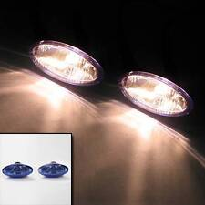 Set Of 2 Universal Blue Car Van Mini Spot Fog Lamps Lights H3 12v 55w