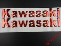 14.5CM Motorcycles 3D Red Tank Fairing Body Emblem Decal Sticker For Kawasaki