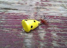 Micro Lure Nano Popper Balsa Wood Handmade Ultra Light Yellow Black Ladybug