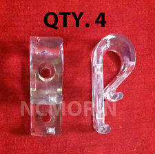 Qty (4) Looped Cord or Chain Hold Down - Tensioner - Window Blind Loop