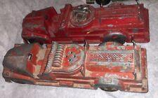 Hubley Lot Of 2 Vintage #468 Fire Truck Engine Metal Nice!