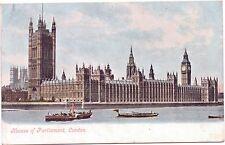 Postcard House Parliament London Boat Paddle Steamer Postmark 1905 Mr J R Rimes
