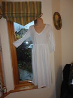 Stunning White 100% Cotton Dress from Mod O Doc, Size UK M, New with tags