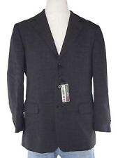giacca blazer uomo antracite pura lana vergine made italy taglia it 50 l large