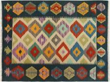 Kilim Arya Cedrick Ivory/Blue Hand-Woven Rug (3'3 x 4'11)