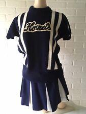 Vtg 1960's 70s Hornets Cheerleader Outfit Skirt & Top Blue & White Small