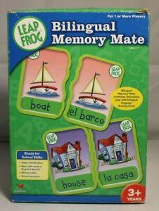 Leap Frog Memory Mate Bilingual Memory Flash Card Game Ages 3+ English Spanish