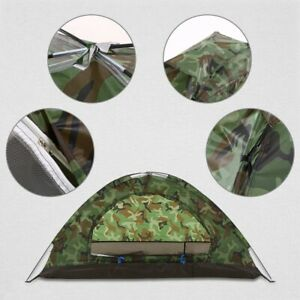 Camping Tent 1 Person Waterproof Camping Tent PU1000mm Polyester Fabric Outdoor