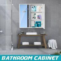 Wall Mount Storage Cabinet Double Mirror Door Shelf Bathroom Medicine Cupboard